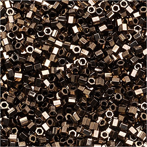 Miyuki Delica Hex Cut Seed Beads 15/0 Metallic Bronze DBSC022 4 Grams