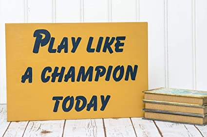 myynti verkossa 50% hinta suosituin Burkewrusk Notre Dame Notre Dame Sign Play Like a Champion Wood Sign Notre  Dame Football Sign Play Like a Champion Sign Notre Dame Decor Man Cave