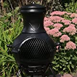 The Blue Rooster Grape Chiminea With Gas In Gold Accent