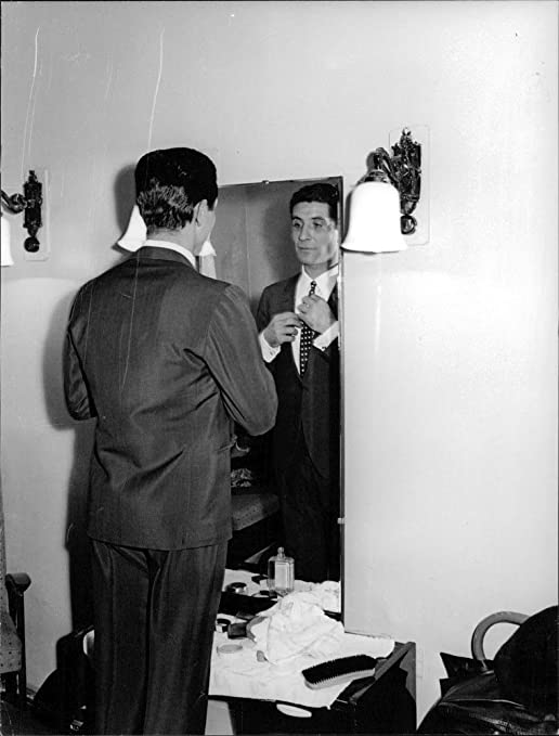 Vintage La Foto De Gilbert bécaud, se Seine corbata nodos ...