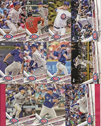 Chicago Cubs 2017 Topps Opening Day Series 11 Card Team Set with Kris Bryant Kyle Schwarber Plus 2016 World Series Champions