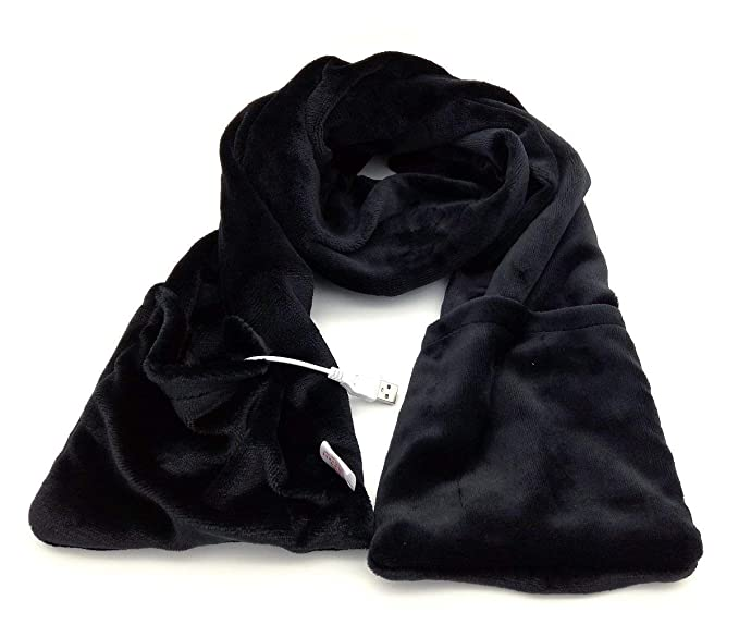 8139752f8e94d Amazon.com: Z-YQL USB Heated Scarf Heating Pad for Neck Warmer Cold Relief  Outdoor Indoor Hiking Walking (Black): Clothing