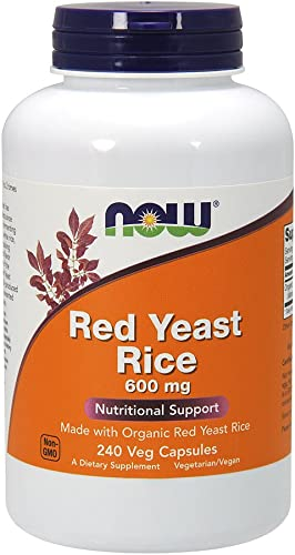 NOW Foods Red Yeast Rice 600 mg, 240 Count Pack of 1