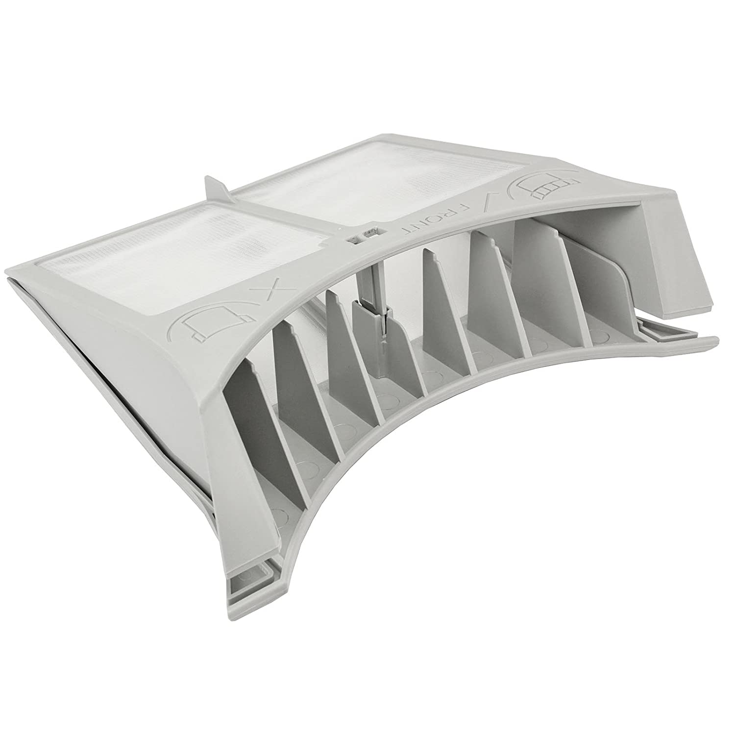 Spares2go Hinged Lint Screen / Fluff Filter for Creda Tumble Dryers (Grey)