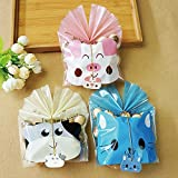 50 Pcs Cute Animal Packing Bag Food Package Cookie Candy Biscuit Gift Bags for Party Favors Supplies