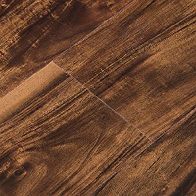 Cali Bamboo - Cali Vinyl Pro Commercial Vinyl Flooring, Extra Wide, Walnut Creek - Dark Hand Scraped Wood Grain - Sample
