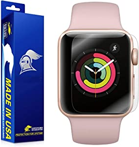 ArmorSuit Apple Watch (38mm) (Series 3/2/Nike+ Compatible) Screen Protector [2 Pack] Full Coverage MilitaryShield Screen Protector for Apple Watch (38mm) (Series 3/2) - HD Clear Anti-Bubble