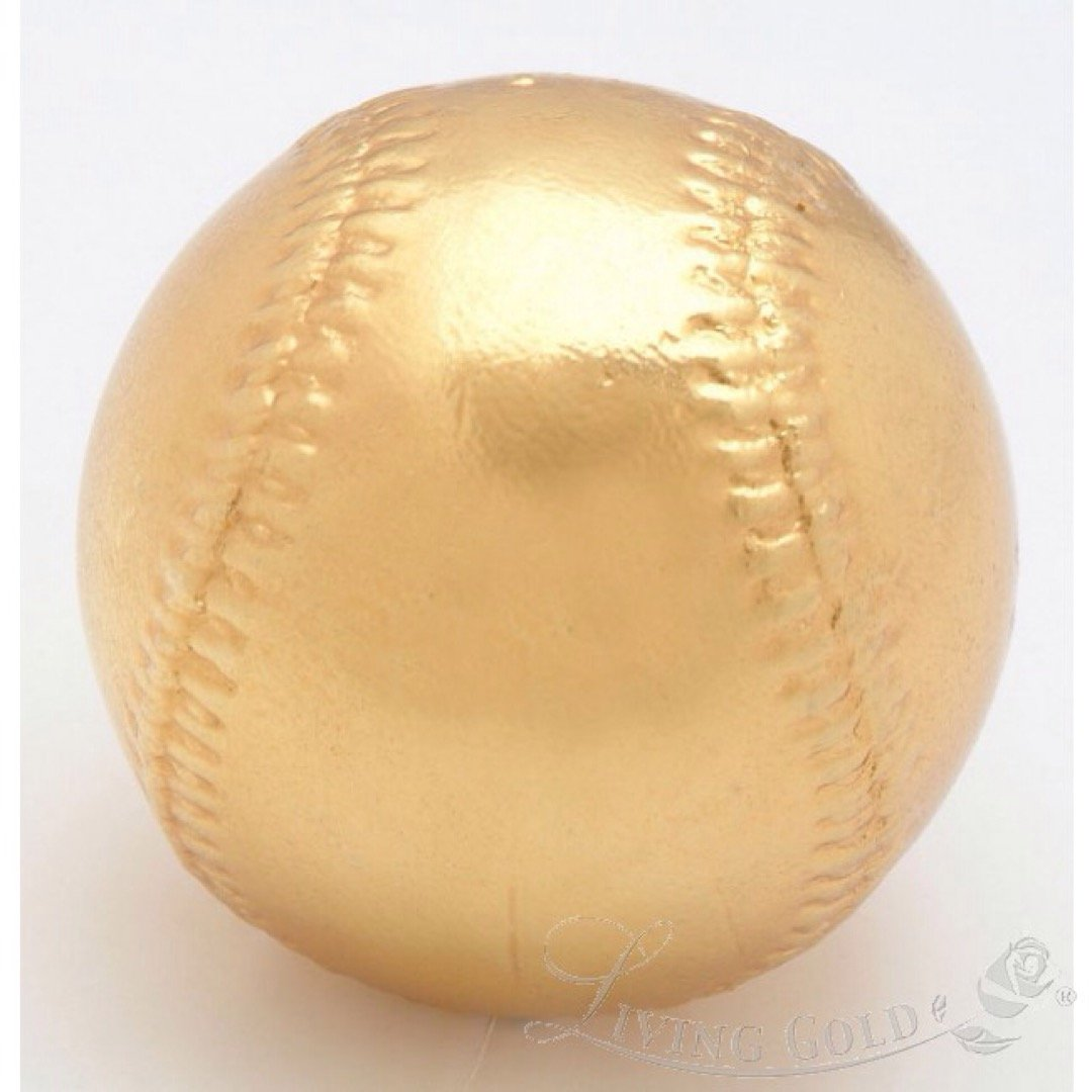 Roxx Fine Jewelry 24K YELLOW GOLD PLATED BASEBALL includes clear display case by Roxx Fine Jewelry (Image #3)