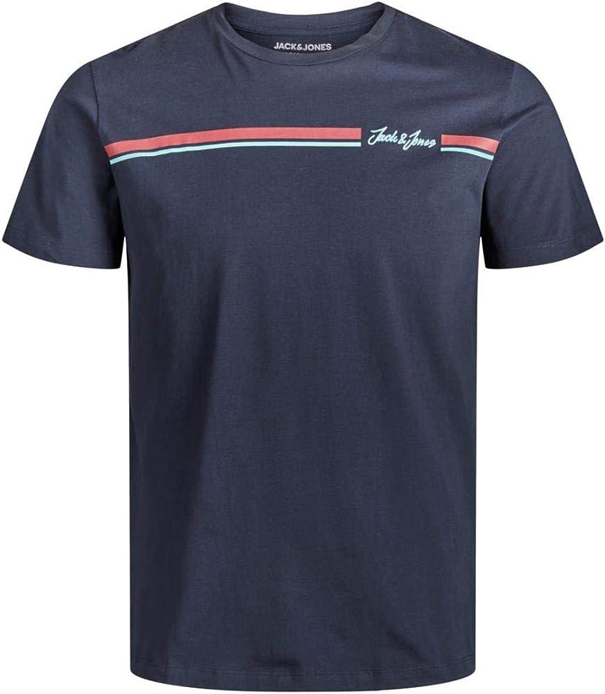 JACK & JONES - Camiseta con impresión con texto decorativo turquesa M: Amazon.es: Ropa y accesorios