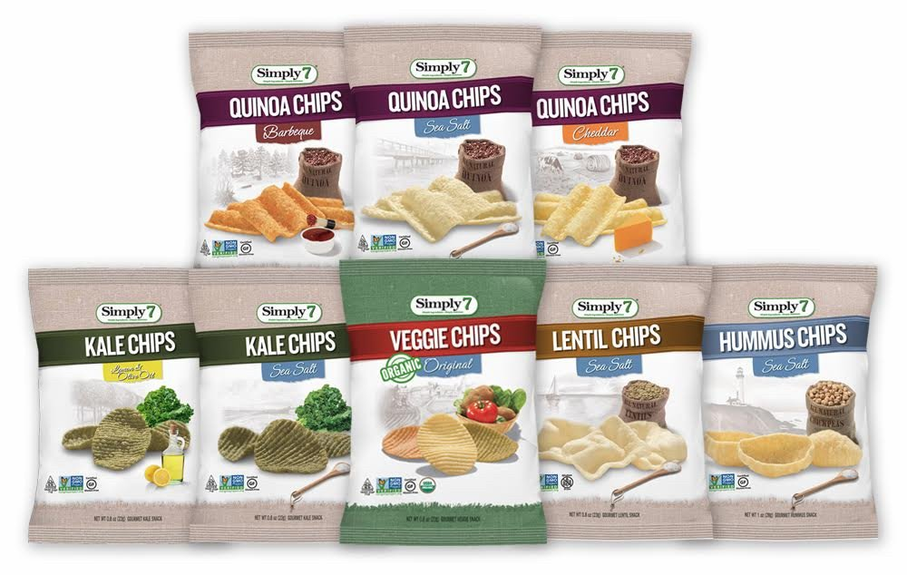 Simply7 Gluten Free Single Serve Chips Variety Pack, 24 Count