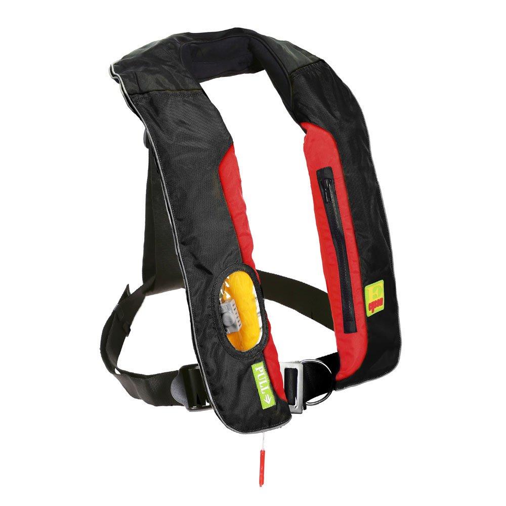 Lifesaving Pro手動膨張ライフジャケットインフレータブルベストPFDファスナー付きポケットLifejacketベストSupサバイバルAid   B07BSTYLYQ
