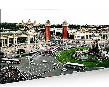 Quadro moderno placa Espana Barcelona impresión sobre lienzo ...