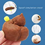 Amplelife Fake Poop Realistic Prank Funny Poop Toys for Joke Trick Halloween April Fool 's Day Party New Year Gifts Novelty Toys Look Real for Kids Friends&Boys
