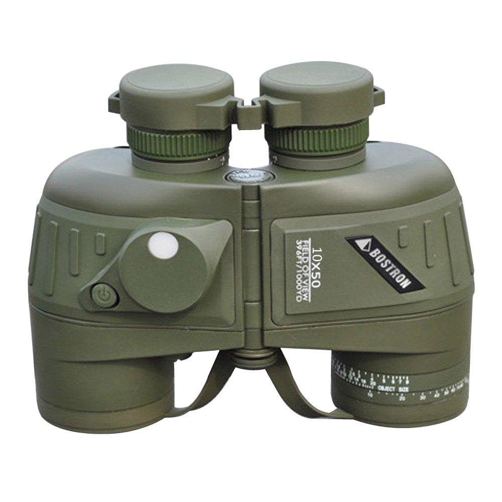 BOSTRON 10X50 396FT/1000YDS スポーツ光学双眼鏡 望遠鏡 スポッティングスコープ コンパス付き ハンティング、キャンプ、ハイキング、旅行、コンサート用 防水 アンチショック B01823MKOK