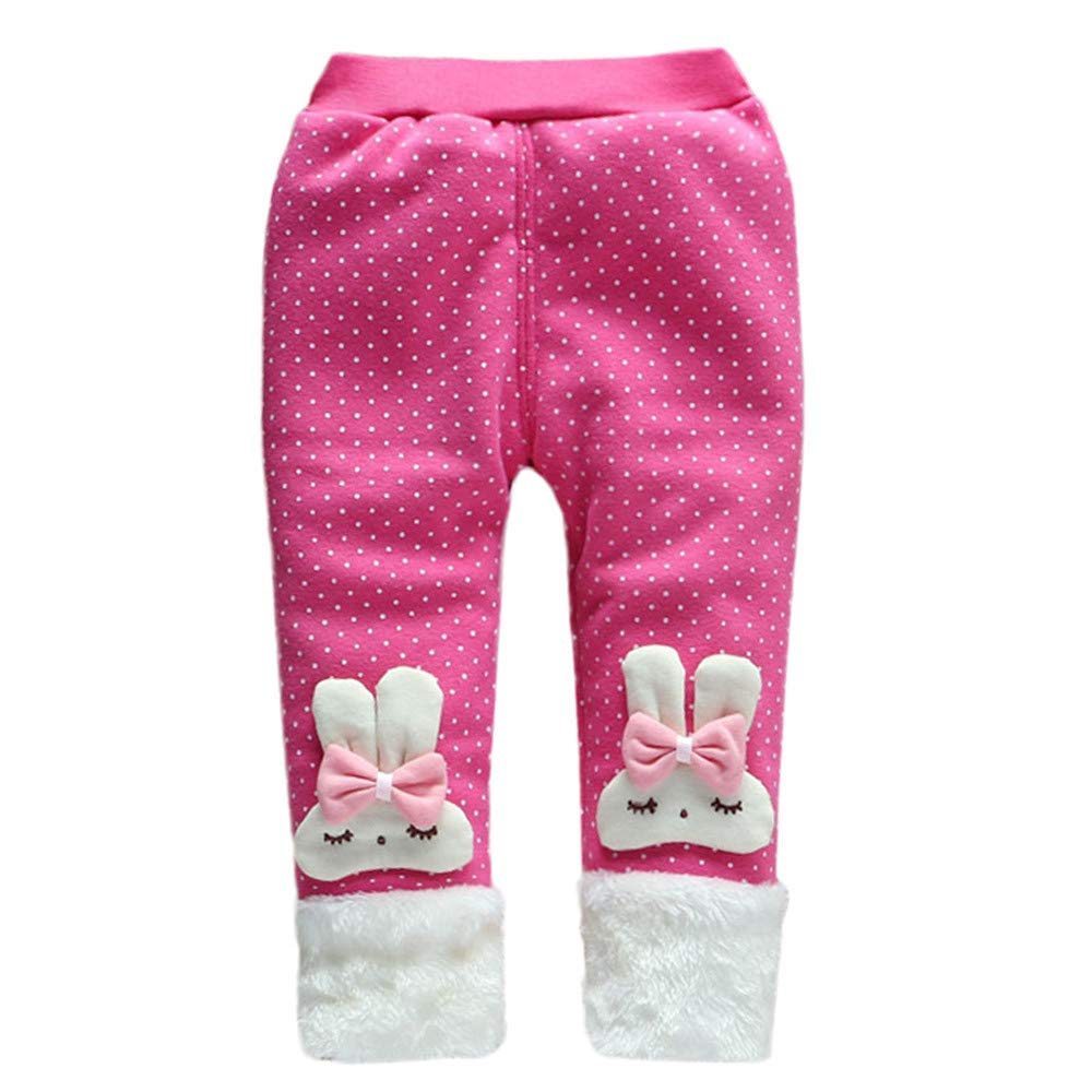 XUANOU Trendy Leg Warmer Baby Girl Pants Child Cartoon Bowknot Pants Trousers Le