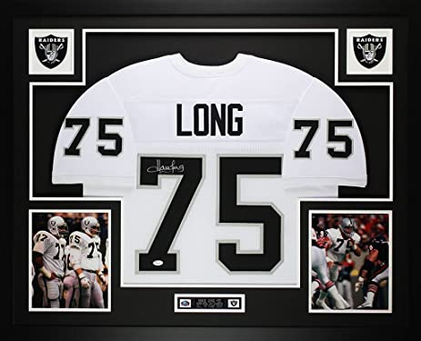 Howie Long Autographed White Raiders Jersey - Beautifully Matted and ...