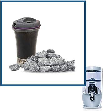 Nikken - Cartucho de filtro Waterfall y piedras minerales 13845 + 13846, repuesto avanzado para filtro del sistema purificador de agua Gravity 1384, piezas del sistema de agua PiMag, agua limpia y filtrada: Amazon.es: Electrónica