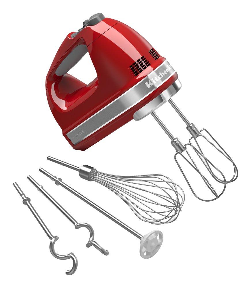 Amazon.com | KitchenAid KHM926ER Empire Red 9-Speed Hand Mixer ...