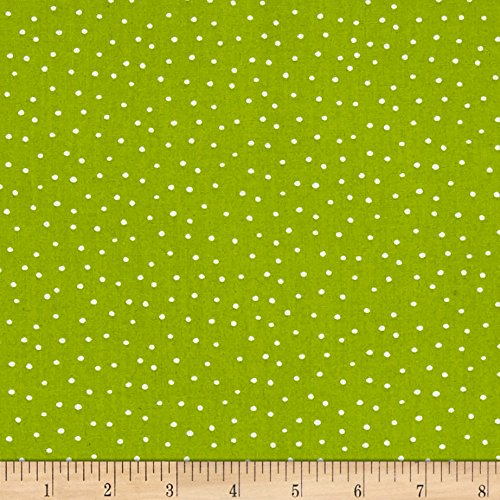 Loralie Designs Vintage Holiday Dinky Dots Lime Fabric By The Yard - Lime Dot Fabric