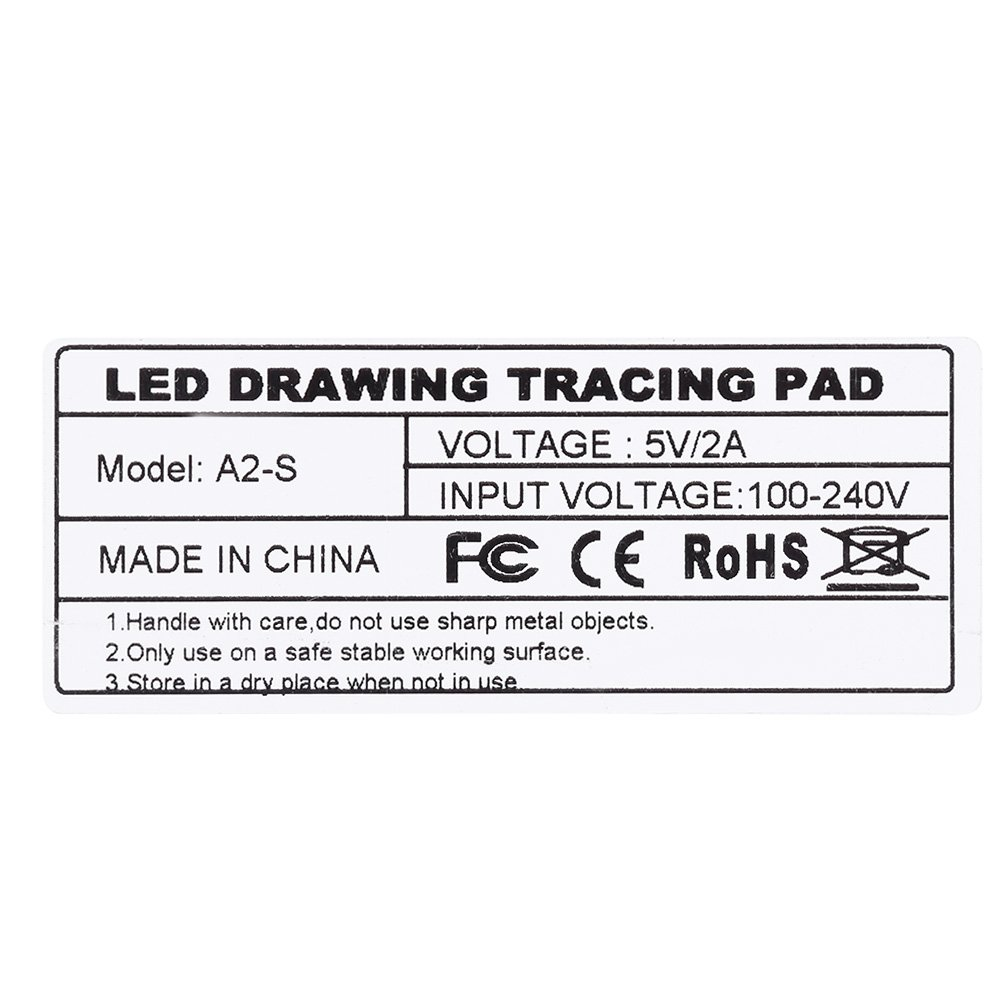 ZJchao A2 LED Tracing Board, Adjustable Brightness Light Box Stencil Drawing Board Table Copy Pad for Artcraft Animation Sketching Tattoo Transferring by ZJchao (Image #9)