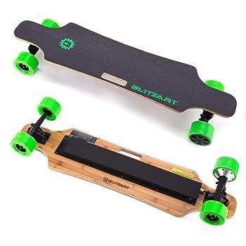 "BLITZART Huracane 38"" Electric Skateboard Electronic Longboard 17mph 350W Hub-Motor 3.5"" 90mm"