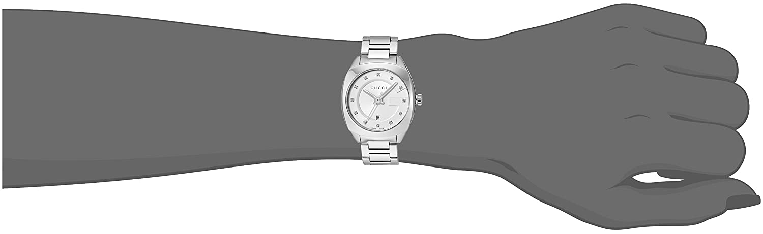 691bde2dc30 Amazon.com  Gucci Swiss Quartz Stainless Steel Dress Silver-Toned women s  Watch(Model  YA142504)  Watches