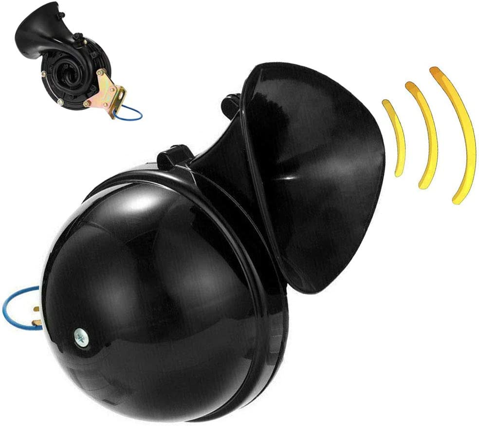 Universal Snail Horn, 300DB 12V / 24V Electric Auto 300DB Air Horn Super Loud Raging Impermeable, Para motocicleta Coche Camión Barco (24V)