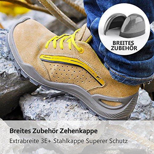 Safetoe Lichtgewicht Veiligheidsschoenen Sporten Werkschoenen L7296 (s1p 2018 Nieuwe Items) Van Ademend Vermogen Van Echt Leder