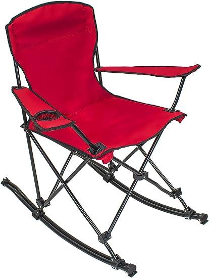 Camping Mecedora Al Aire Libre Plegable de Viaje Camping Muebles para patio de Marco de Acero