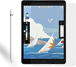 Paperfeel Screen Protector for iPad 8th/7th Generation 2020&2019(10.2 inch)iPad Pro 10.5&iPad Air 3(2017&2019)[Easy Install Frame]Anti Glare/Matte Screen Protector Compatible with Apple Pencil/Face ID