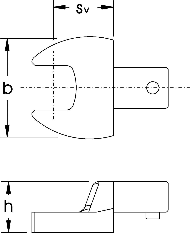 Elora 2052000160000 Open End Spanner Insert Tool 9x12mm//16mm