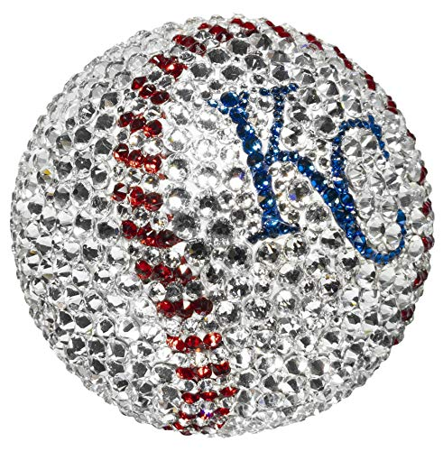 Rock On Sports Swarovski Crystal, Offically Licenced MLB Kansas City Royals Baseball, Custom & Handmade Collectible, Sports ()