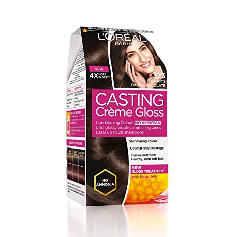 bc9a112d6 Buy L'Oreal Paris Casting Creme Gloss Hair Color, Sonam's Dark Chocolate  323, 87.5g+72ml Online at Low Prices in India - Amazon.in