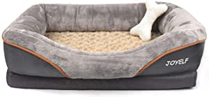 JOYELF Memory Foam Dog Bed Medium Orthopedic Dog Bed & Sofa with Removable Washable Cover and Squeaker Toy as Gift