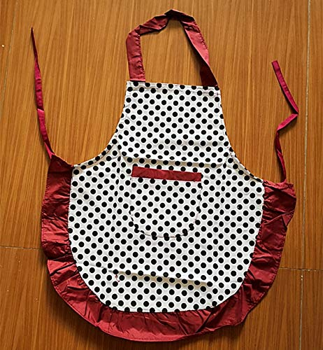 Aprons for Kids Wholesale lot Kid White and Black Polka dot Cotton Cooking Baking