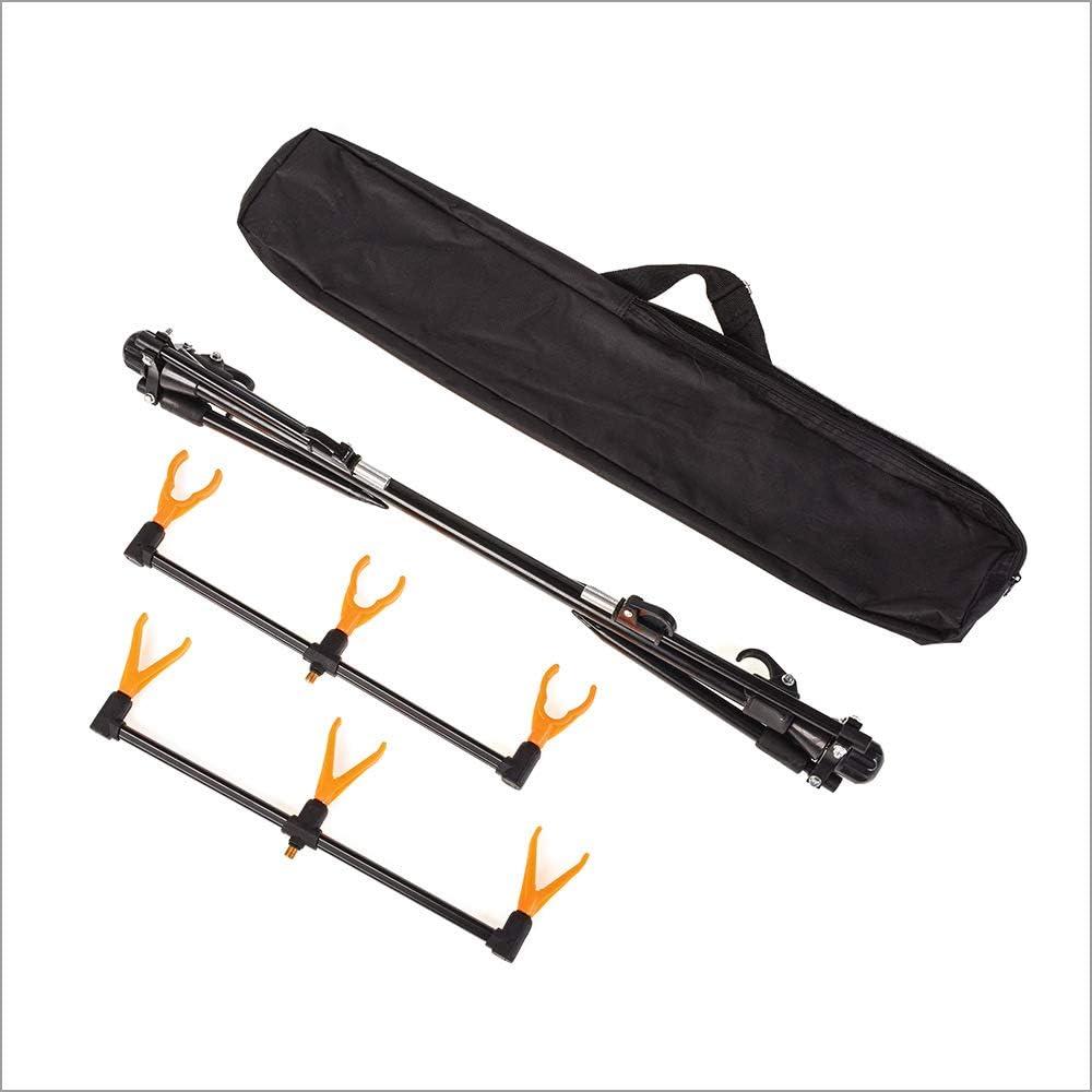 Fishing Goal Post Rod Pod, 3 Rod Quick Lock Fully Adjustable