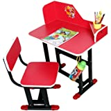 TruGood Study Table Chair Set For Kids (Wood & Steel) - Multi Color