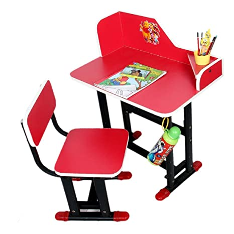 Buy TruGood Study Table Chair Set For Kids (Wood & Steel) - Multi ...
