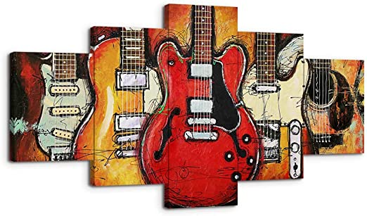 Guitarra pared arte lienzo impresiones decoración del hogar para ...