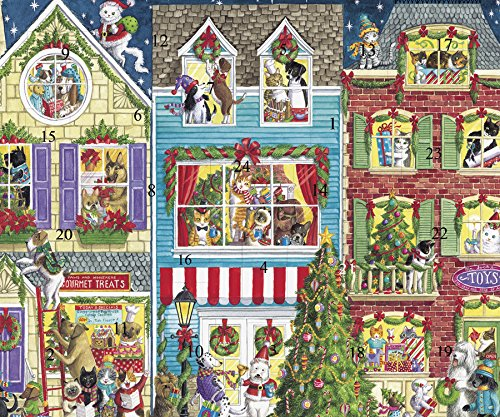 Caspari Advent Calendar Card, Christmas Pets Caspari Inc ADV239C