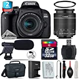 Canon EOS Rebel 800D/T7i Camera + 18-55mm IS STM Lens + 2yr Extended Warranty + 32GB Class 10 Memory Card + Canon Bag + UV Filter + Cleaning Kit + Cleaning Brush - International Version