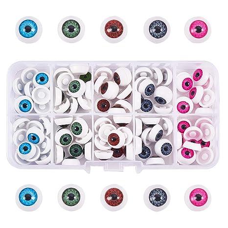 PandaHall Elite - Ojos de muñeca de plástico para Manualidades (100 Unidades, 12 x