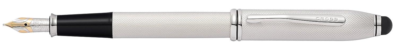 CROSS Townsend Lustrous Chrome Fountain Pen with Medium Nib incl. Luxury Gift Box – Refillable Cartridge Pen 536-MS