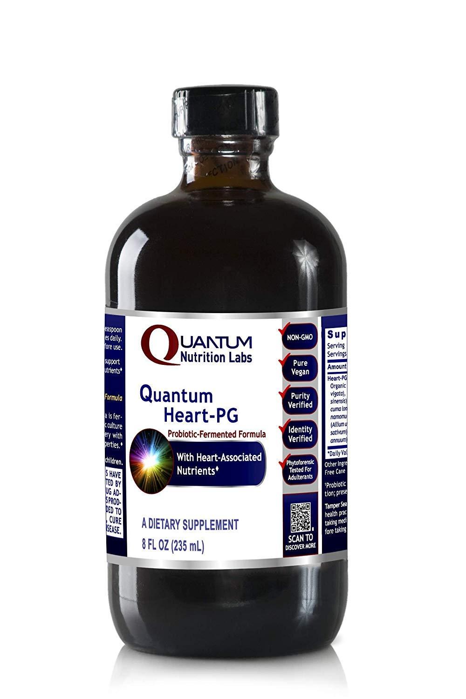 Quantum Heart-PG, 32 Fl oz Vegetarian Liquid 4 Bottles - Probiotic-Fermented Cardio nd Formula for Quantum-State Cardiovascular Support