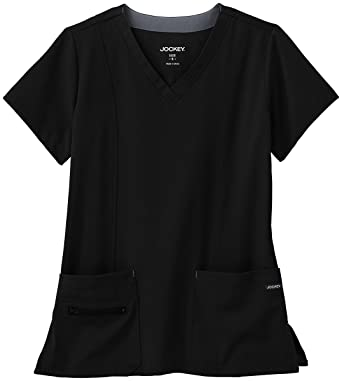 da138533fcf Amazon.com: Jockey Women's Scrubs Modern V-Neck Scrub Top: Clothing