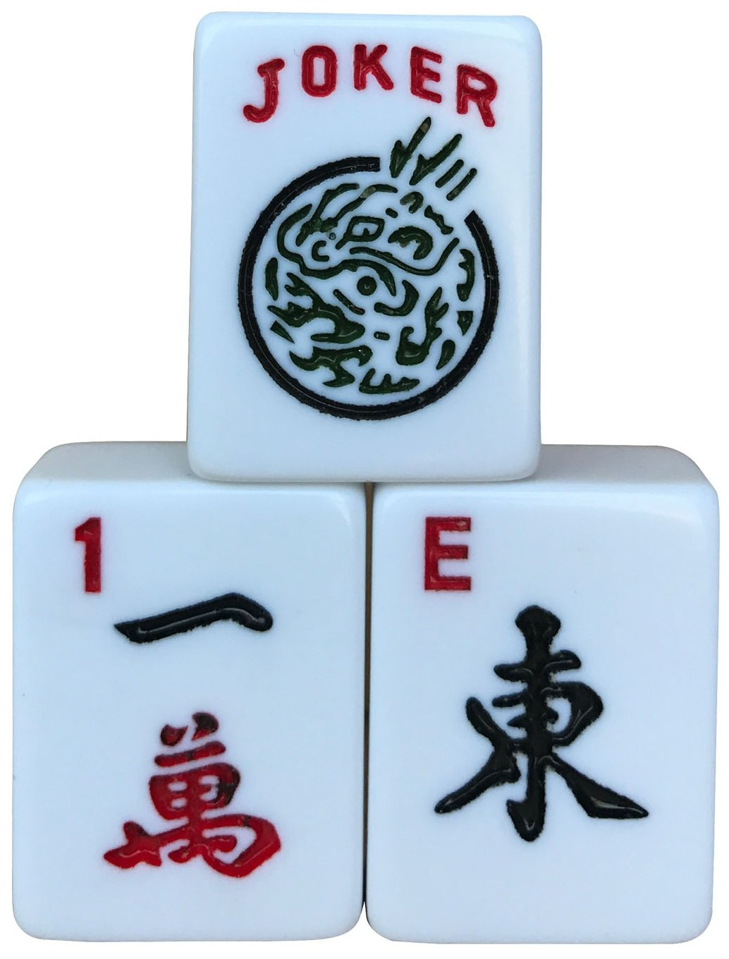 ICNbuys American Mahjong Set, Mah Jongg, 166 White Tiles, with Free Bag, Pushers, Dices, Mahjong Trays, Wind Indicator, Chips, English Instruction and Mahjong Matt, All the Accessories Included by ICNBUYS