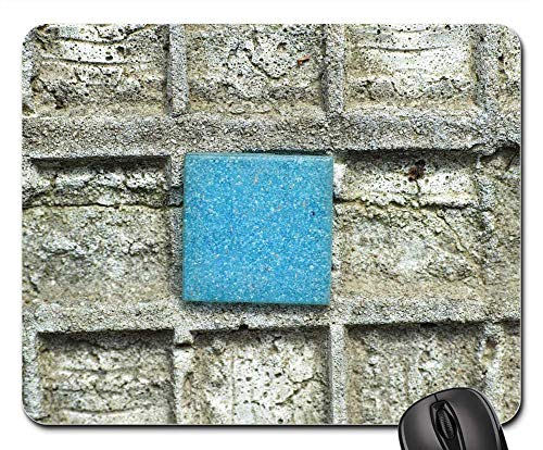 Mouse Pads - Blue Stone Tile Ground Wall Single -