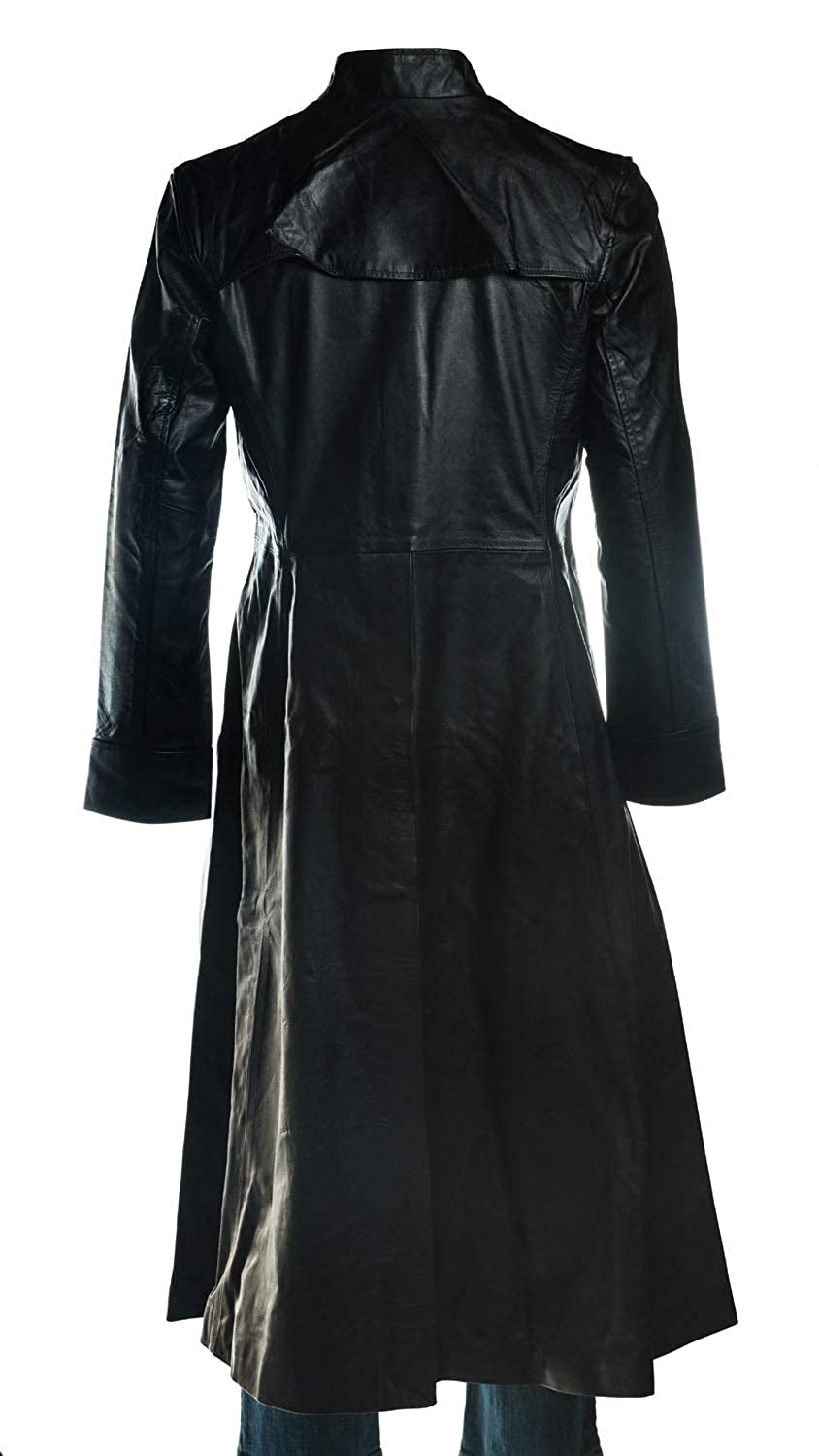 d558c90553d Matrix Neo The One Keanu Reeves Mens Gothic Black Leather Trench ...