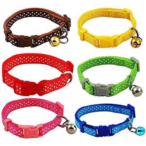Per-Adjustable-Polka-Dot-Print-Pet-Dog-Cat-Collar-Necklace-6-Color-to-Choose