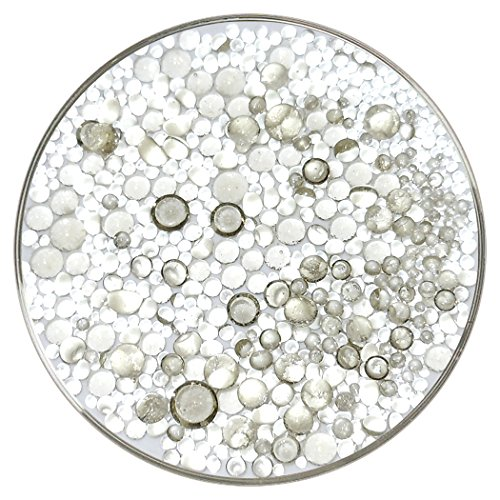 Olive Smoke Tint Transparent Frit Balls - 90COE, New Larger 1oz Size - Made from Bullseye Glass ()